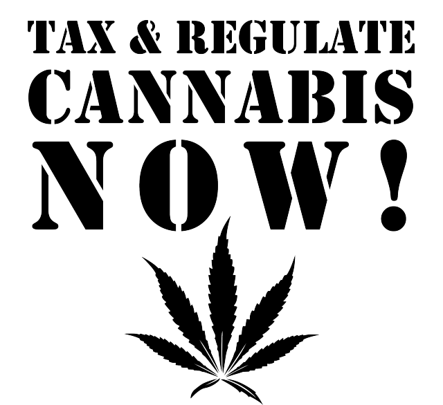 Tax & Regulate Cannabis Now! Stencil Design