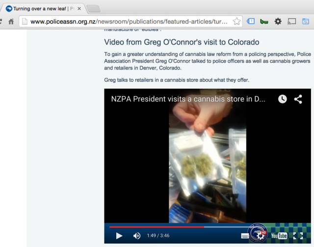 NZPA President Greg O'connor Visits Legal Cannabis Store in Colorado