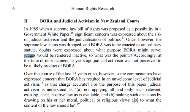 Petra Butler comments about the history of our crippled human rights laws
