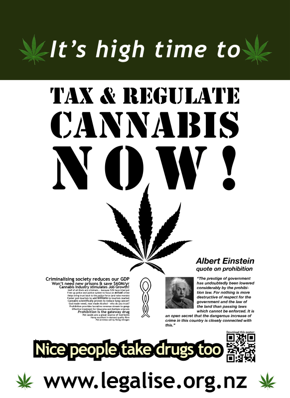 It's High Time To Tax & Regulate Cannabis 2016 poster design (Download PDF)