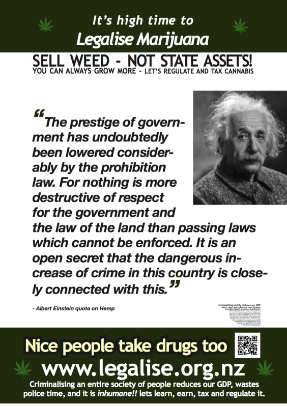 Einsteins quote on Marijuana Prohibition