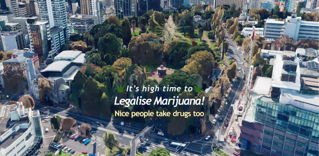 Auckland Monthly 420 Protest